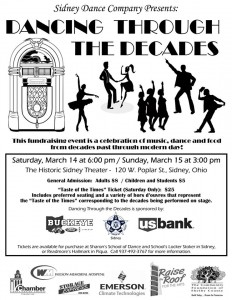 Come watch us dance through the decades!
