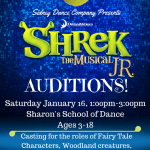 Shrek The Musical Jr. Audition Flyer