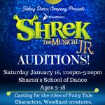 Shrek The Musical Jr. Audition Flyer